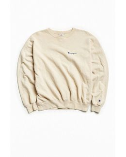 Vintage Taupe Script Logo Crew Neck Sweatshirt