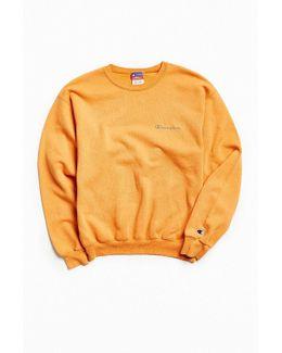 Vintage Orange Script Logo Crew Neck Sweatshirt