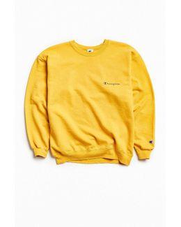 Vintage Gold Script Logo Crew Neck Sweatshirt