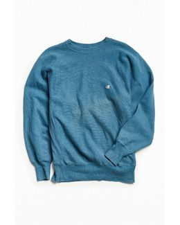 Vintage Slate Blue Small Logo Crew Neck Sweatshirt
