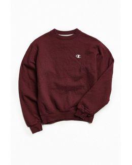 Vintage Maroon Small Logo Crew Neck Sweatshirt