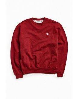 Vintage Dark Red Small Logo Crew Neck Sweatshirt