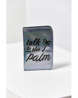Palm Shimmer Passport Holder