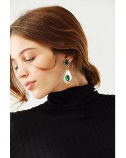 Emerald Rope Statement Drop Earring