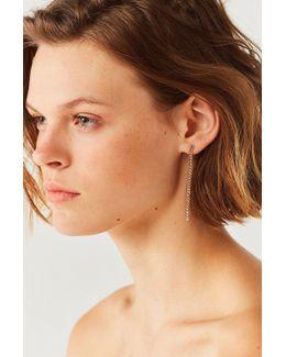 Shine Chain Drop Earring Set