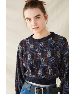 Recycled Printed Cropped Sweater
