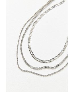 Simple Chain Necklace Set