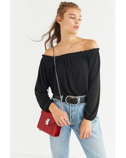 Uo Off-the-shoulder Dolman Sleeve Top