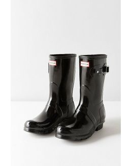 Original Short Gloss Buckled Rain Boot