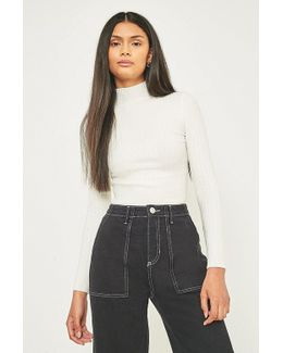 Urban Outfitters Ribbed Funnel Neck Jumper