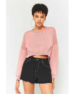 Urban Outfitters '80s Acid Wash Cropped Jumper