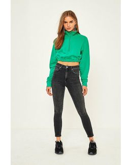 Pine Skinny Worn Black Jeans