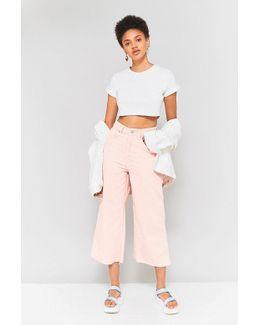 Pink Corduroy Awkward Flood Jeans