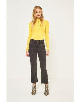 Kick Black Paneled Jeans