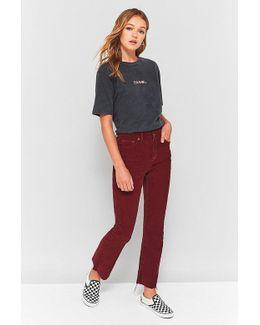 Kick Burgundy Corduroy Jeans