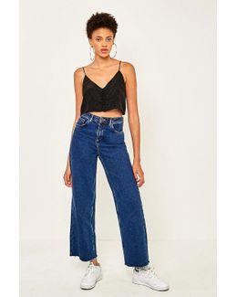 Flood Wide Leg Indigo Blue Jeans