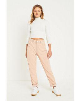 Mom Ice Pink Corduroy Jeans