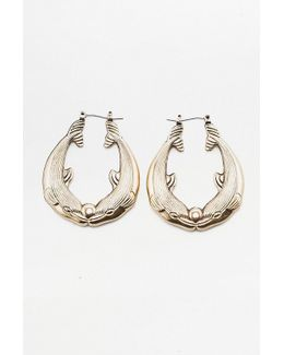 Double Dolphin Hoop Earrings