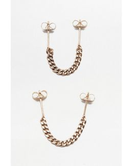 Chunky Chain Double Piercing Earrings