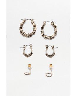 Mini Bamboo Earring Set 3-pack