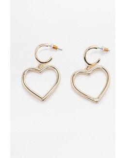 Mega Heart Drop Earrings