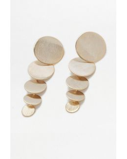 Cascade Circle Drop Earrings