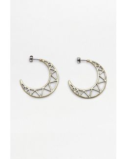 Geometric Cut-out Half Moon Earrings