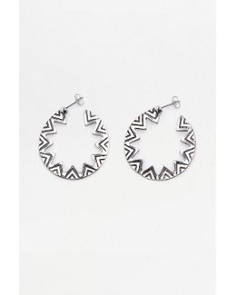 Geometric Cut-out Hoop Earrings