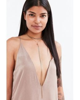 Naomi Beaded Lariat Necklace