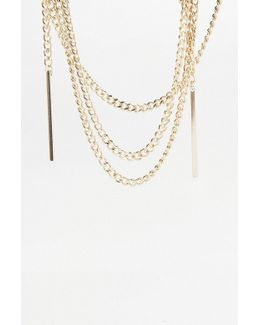 '80s Chain Wrap Necklace