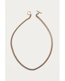 Silver Chain Bolo Necklace