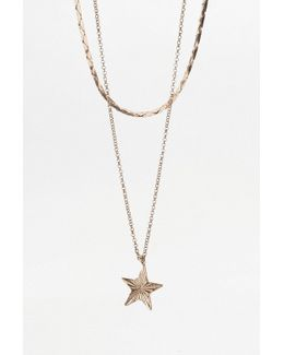 Vintage Star Charm Necklace Set