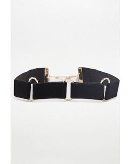Velvet Triple Link Choker Necklace