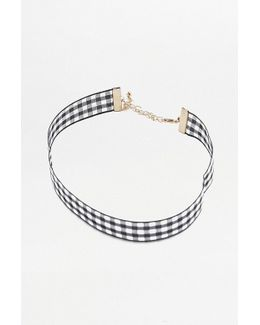 Gingham Choker Necklace