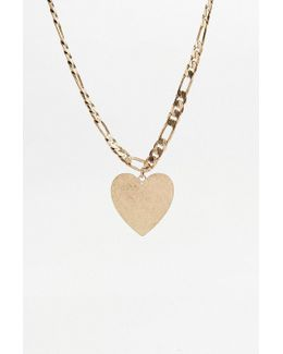Stamped Heart '80s Necklace