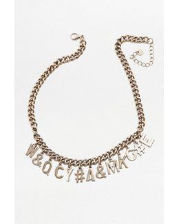 Jumble Letter Choker Necklace