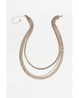 Super Chunky Layered Chain Necklace