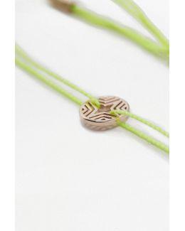 Filigree Geometric Disc Bracelet