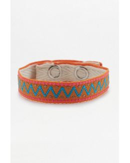 Geometric Fabric Festival Popper Bracelet