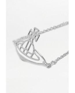 Thin Lines Flat Orb Silver Bracelet
