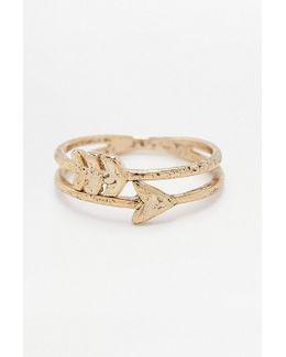 Double Arrow Ring
