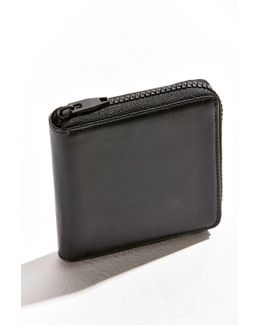 Black Zip-around Wallet