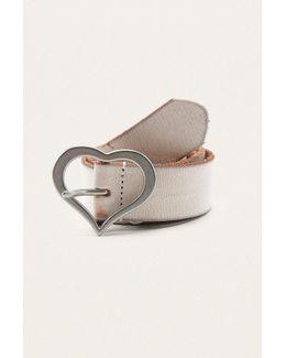 Heart Buckle Faux Leather Belt