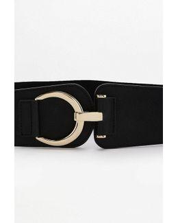 Wide Elastic Buckle Belt