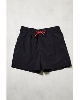 Solid Logo Navy Swim Shorts