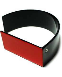 Red And Black Geometric Cuff