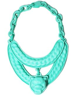 Mint Jaguar Necklace