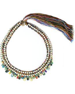 Dark Hand Painted Necklace