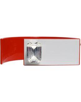 Red Geometric Cuff