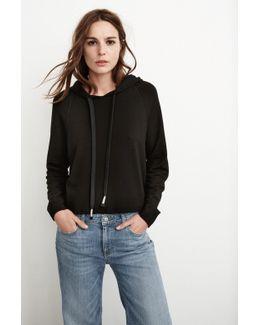 Gala Fleece Pullover Hoodie In Black